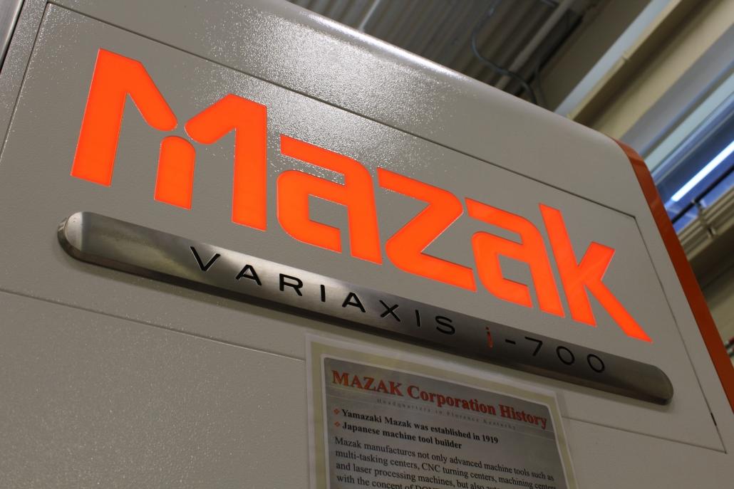 Mazak Variaxis Machine in NCI's Center of Advanced Manufacturing