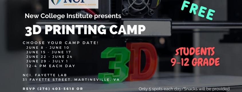 3D Printing Camp